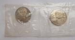 1 рубль новоделы 1988 г. сцепка 3 шт., фото №6