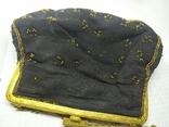 Вечерняя винтажная сумочка с латунной застежкой и цепочкой, фото №6