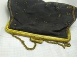 Вечерняя винтажная сумочка с латунной застежкой и цепочкой, фото №9