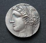 Карфагенская монета времён 1-й Пунической войны с изображением Пегаса (копия), фото №5