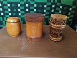Боченки для меда и деревянная чашка., фото №5