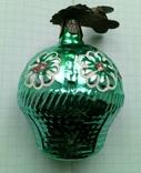 Елочная игрушка Корзина с цветами СССР прищепка, фото №2