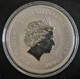 Тувалу Марвел: Железный Человек 2018 серебро 1 унция 999, фото №3