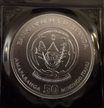 Руанда Африканская Унция 2018 год. серебро 999, фото №3