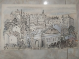 Картина Одесса Графика Мельничук, 28х47 см, фото №4