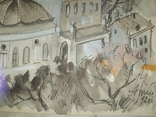 Картина Одесса Графика Мельничук, 28х47 см, фото №7