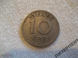 Швеция 10 эре 1925 W, фото №2