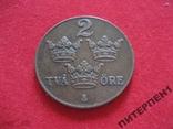 Швеция 2 эре 1939 г, фото №2