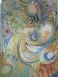 Картина А.Мельничук Азарт акварель 44х30 см, фото №2