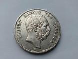 5 марок 1902 Саксонія, фото №2