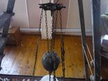 Старая большая чугунная керасиновая люстра австро венгрия, фото №3