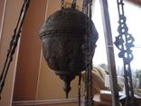 Старая большая чугунная керасиновая люстра австро венгрия, фото №4
