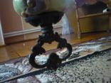 Старая большая чугунная керасиновая люстра австро венгрия, фото №9