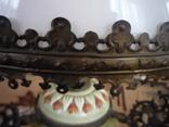Старая большая чугунная керасиновая люстра австро венгрия, фото №10