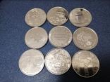 Комплект 10 гривневых монет НБУ 2018-20 г 9 монет