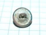 Старинная грибовидная (конусообразная) пуговка с узорами и эмалью, фото №6