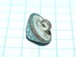 Старинная грибовидная (конусообразная) пуговка с узорами и эмалью, фото №7