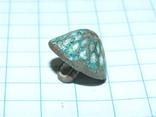 Старинная грибовидная (конусообразная) пуговка с узорами и эмалью, фото №8