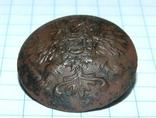Пуговица с орлом периода РИ, СПБ БР Бух, отличный рельеф, фото №3