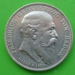 5 марок, Баден, 1907 год, фото №2