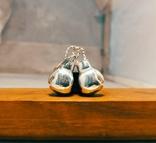 Серебряные боксерские перчатки, фото №6