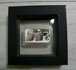 Год Кролика, ДВА БЕЛЫХ КРОЛИКА - унция, серебро 999, 1 доллар - 2011 - ПОЛНЫЙ КОМПЛЕКТ, фото №4