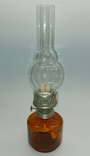 Лампа керосиновая СССР цветное стекло 1970-е годы керосинка, фото №2