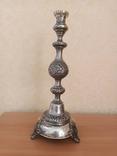 Серебрянный Подсвечник серебро 84, фото №3