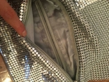 Сумка-клатч кольчужка серебряного цвета., фото №6