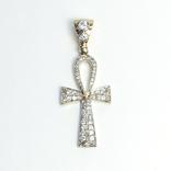 Золотой коптский крест с бриллиантами, фото №2