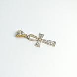 Золотой коптский крест с бриллиантами, фото №3