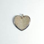 """Крупная серебряная подвеска """"сердце"""", Италия, """"MILOR"""", фото №2"""
