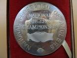 Серебряная медаль (не врученая) Победителя рыбной ловли, Англия, 1979г., 59гр., 5 см., фото №4