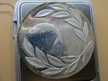 Серебряная медаль (не врученая) Победителя рыбной ловли, Англия, 1979г., 59гр., 5 см., фото №7