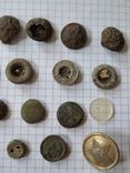 Старинные пуговицы, 29 шт, фото №5