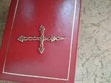 Крестик золотой проба 585 украинская вес 1,16 гр., фото №3