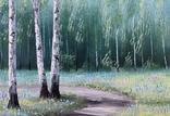 Картина, Стежина у весняний край, 30х40 см. Живопис на полотні, фото №2