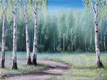 Картина, Стежина у весняний край, 30х40 см. Живопис на полотні, фото №4