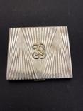 Серебряная пудреница с золотой накладкой, серебро, золото, фото №2