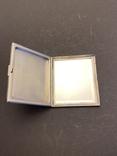 Серебряная пудреница с золотой накладкой, серебро, золото, фото №4