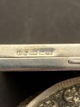 Серебряная пудреница с золотой накладкой, серебро, золото, фото №8