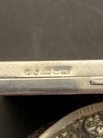 Серебряная пудреница с золотой накладкой, серебро, золото, фото №9