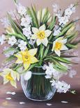 Картина, Весняний букет, 30х40 см. Живопис на полотні, фото №2