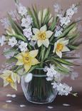 Картина, Весняний букет, 30х40 см. Живопис на полотні, фото №3