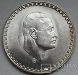 "1 фунт 1970 г. Египет "" Президент Насер "", серебро, фото №4"