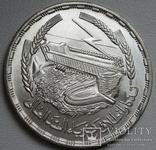 """1 фунт 1968 г. Египет """" Асуанская плотина """", серебро, фото №5"""