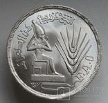 """1 фунт 1976 г. Египет """" ФАО """", серебро, фото №6"""