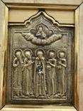 Икона Святых бронза, фото №4