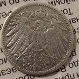 1 марк Германская Империя,1906год,А-А, серебро., фото №3