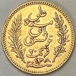 20 франков. 1892. Тунис (золото 900, вес 6,43 г), фото №4